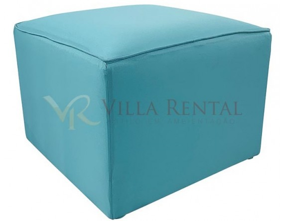 Revest. Puff 0.60x0.60 Oxford Azul Tiffany com Vivo