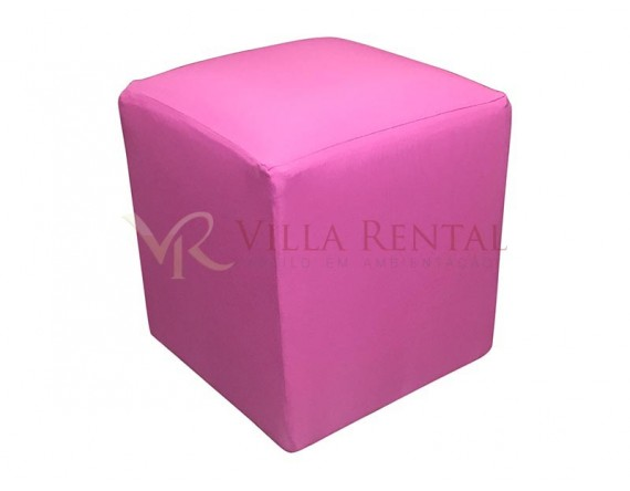 Revest. Puff 0.40x0.40 Oxford Rosa Chiclete
