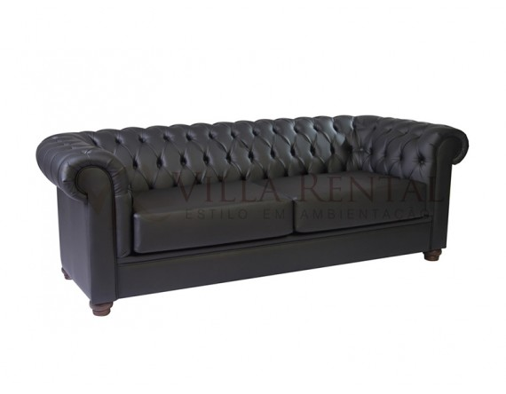 Sofá Chesterfield 3L Black